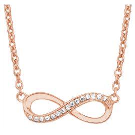 s.Oliver 2024289 Silber-Halskette für Damen Unendlichkeit