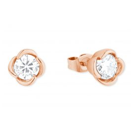 s.Oliver 2027603 Ladies' Stud Earrings Silver rose gold