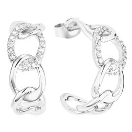 s.Oliver 2028500 Women's Hoop Earrings Silver