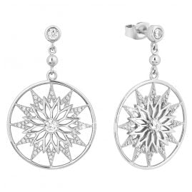 s.Oliver 2028516 Women's Drop Earrings Silver Snowflake