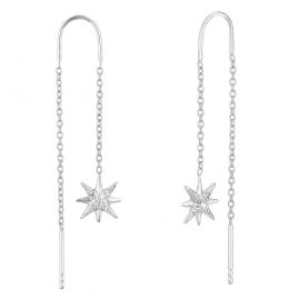 s.Oliver 2028518 Ladies' Drop Earrings Silver Star