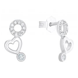 s.Oliver 2031515 Women's Earrings Heart Silver