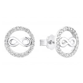 s.Oliver 2032570 Women's Stud Earrings Infinity Silver
