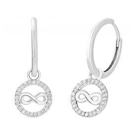 s.Oliver 2032568 Women's Hoop Earrings Silver Infinity