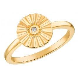 s.Oliver 2031430 Damenring Silber vergoldet