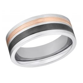 s.Oliver 203255 Men's Ring Stainless Steel Two-Colour