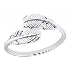 s.Oliver 203258 Silver Women's Ring Feather