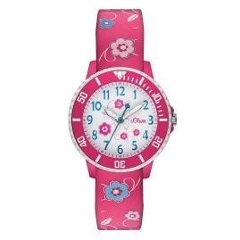 s.Oliver SO-2990-PQ Mädchenuhr Pink Blumen
