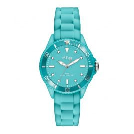 s.Oliver SO-2750-PQ Kids Watch Turquoise