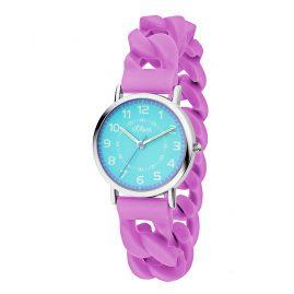 s.Oliver SO-3428-PQ Uhr für Kinder Flieder
