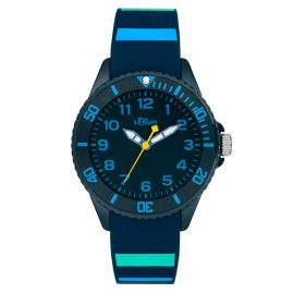 s.Oliver SO-4005-PQ Kinderuhr Blau