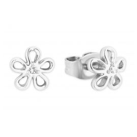s.Oliver 2027454 Girls' Stud Earrings Flower Silver 925 Zirconia Kids
