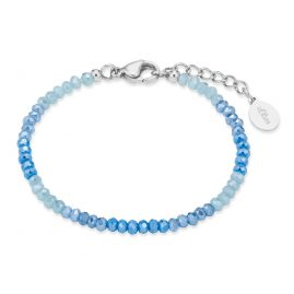 s.Oliver 2028452 Children's Bracelet with Glass Beads Blue