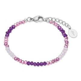 s.Oliver 2028453 Kids Bracelet with Glass Beads Violet