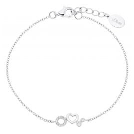 s.Oliver 2031465 Mädchen-Armband Herz Silber