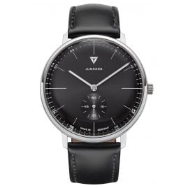 Junkers 9.09.01.02 Men's Watch 100 Years Bauhaus Black Leather Strap