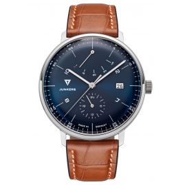 Junkers 9.11.01.12 Men's Automatic Watch 100 Years Bauhaus Brown Leather Strap