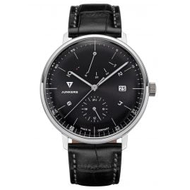 Junkers 9.11.01.02 Automatic Men's Watch 100 Years Bauhaus Black Leather Strap