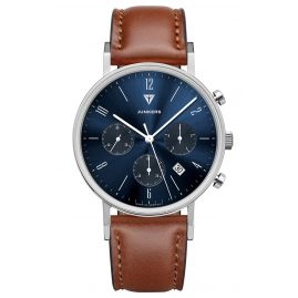 Junkers 9.19.01.01 Men's Watch Chronograph Dessau Brown Leather Strap