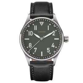 Junkers 9.02.01.06 Men's Watch with Leather Strap Flieger Black / Green