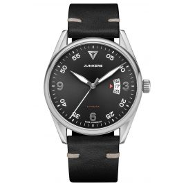 Junkers 9.04.01.08 Automatic Men's Watch Professor Black Leather Strap