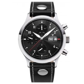 Junkers 9.14.01.02 Men's Chronograph Pilot's Watch Cockpit Black
