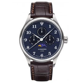 Junkers 9.33.01.01 Men's Watch with Moon Phases Tante JU Brown / Blue
