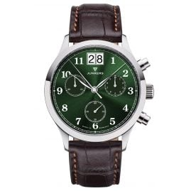 Junkers 9.23.01.06 Men's Watch Chronograph Outsize Date Tante JU Brown / Green