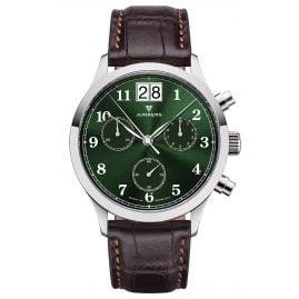 Junkers 9.23.01.06 Herrenuhr Chronograph Großdatum Tante JU Braun / Grün