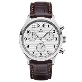 Junkers 9.23.01.03 Men's Chronograph Outsize Date Tante JU Dark Brown / Silver