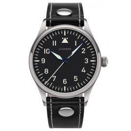 Junkers 9.20.01.02 Men's Wristwatch Baumuster A Black Leather Strap
