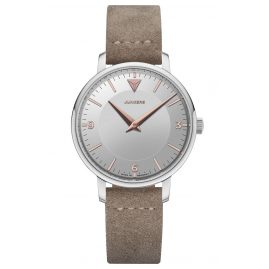 Junkers 9.01.01.07 Ladies Wristwatch Therese Leather Strap Taupe / Silver