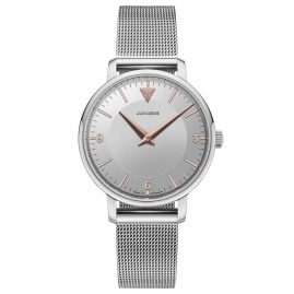 Junkers 9.01.01.07.M Women's Watch with Mesh Strap Therese silver / rose gold