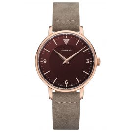 Junkers 9.25.01.10 Ladies Watch Quartz Therese Leather Strap Taupe / Red