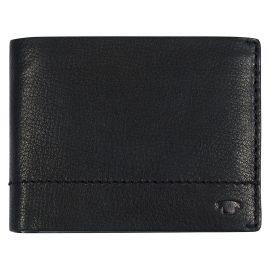 Tom Tailor 25302 Herren Leder-Geldbörse Kai Schwarz Querformat mit RFID Schutz