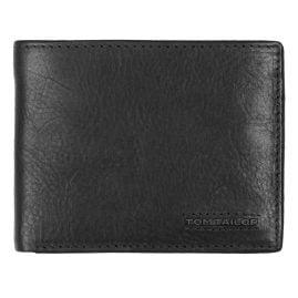 Tom Tailor 27311 Wallet Barry Black Leather with RFID Protection