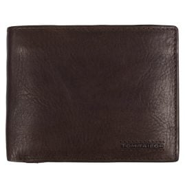 Tom Tailor 27312 Wallet Brown Leather with RFID Protection Barry