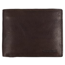 Tom Tailor 27312 Geldbörse Leder Braun mit RFID Schutz Barry
