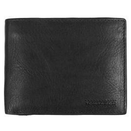 Tom Tailor 27312 Leder-Geldbörse Schwarz mit RFID Schutz Barry