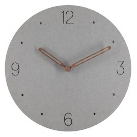 trendor 75860 Analogue Wall Clock Round Grey Ø 29 cm Wooden Hands