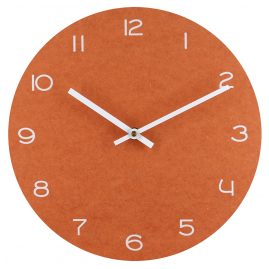 trendor 75861 Wall Clock Orange with White Numbers Ø 29 cm