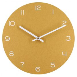 trendor 75863 Analogue Wall Clock Yellow with White Numbers Ø 29 cm