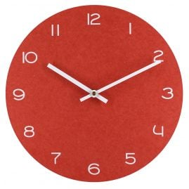 trendor 75864 Quartz Wall Clock Red with White Numbers Ø 29 cm without Ticking