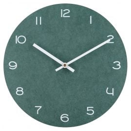 trendor 75866 Green Wall Clock with White Numbers Ø 29 cm without Ticking