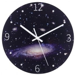 trendor 75868 Wall Clock Night Sky Quartz Ø 30 cm without Ticking
