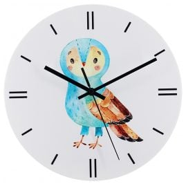 trendor 75872 Children's Wall Clock Owl Ø 30 cm Quartz without Ticking