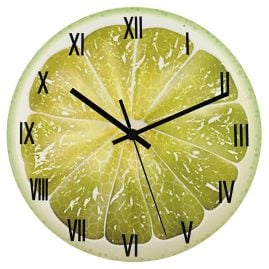 trendor 75874 Wall Clock Lime Ø 30 cm Quartz without Ticking