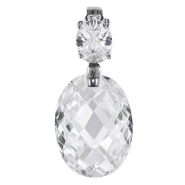 trendor 64888 Silver Pendant with Crystals