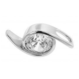 trendor 81224 Silber Anhänger mit großem Stein