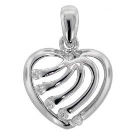 trendor 81361 Silber Herz Anhänger